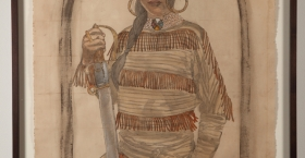 """Mamacitas Carry Real Heaters. "" Christina ""Tina"" Little Bear, a mestizo interpreter and skilled fighter for Chief Calm Arrow.  Agrees to follow Rainer after her chief has been killed but is plotting revenge, culminating at her betrayal of Rainer at The Battle of Tallow (Blood) River. Secretly is in love with Jacques Jr. 1794."